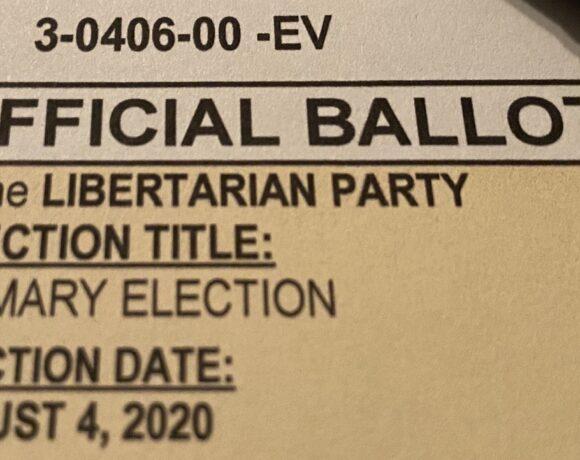 Voting Libertarian in the Arizona Primary